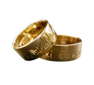 Bespoke 18ct Gold Diamond Wedding Rings