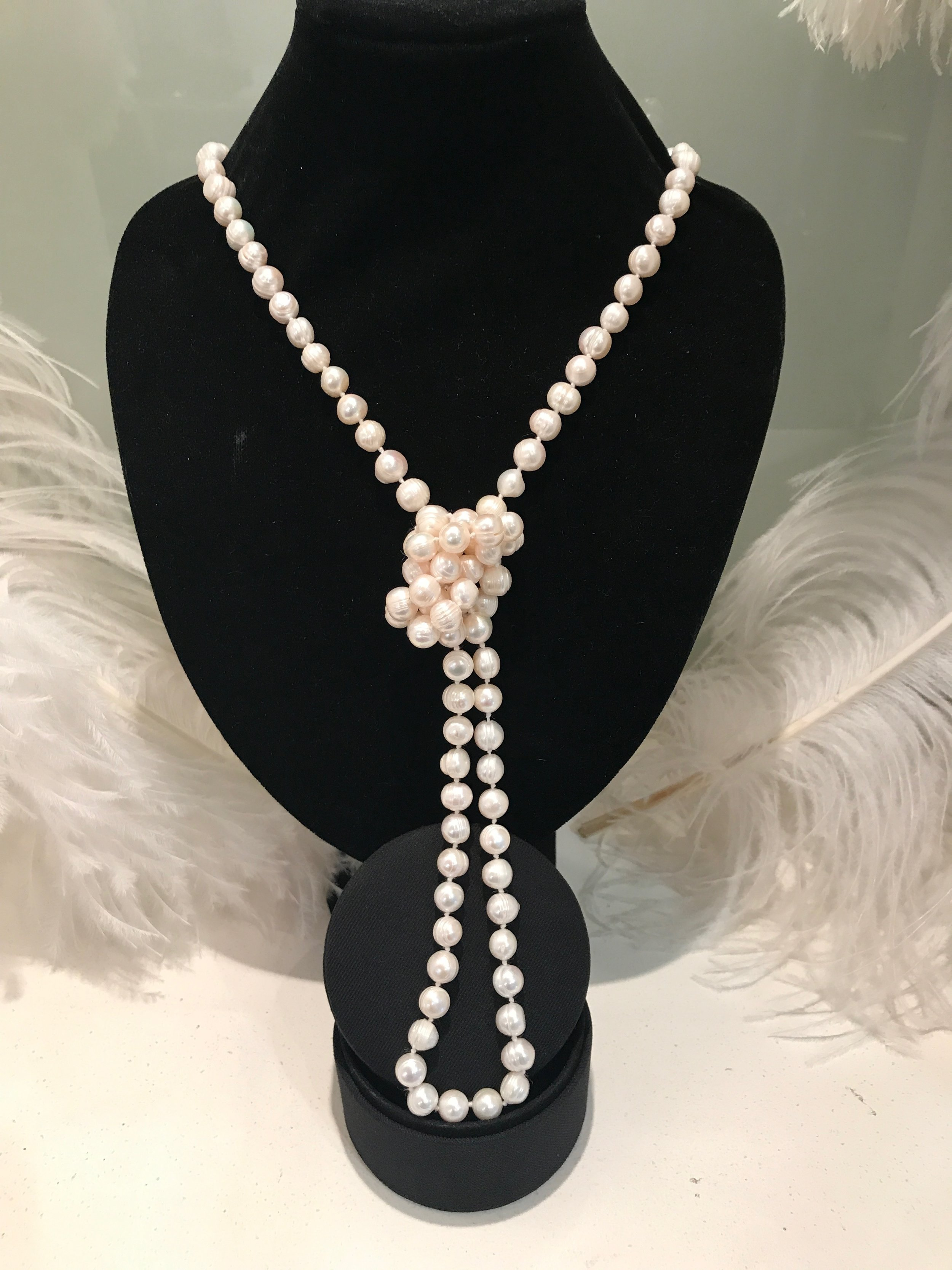TORY & KO. Jewellers Freshwater Pearl Rope Necklace knotted view .jpeg