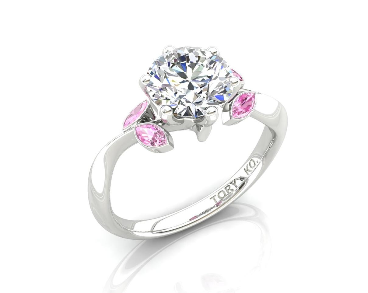 Pink Sapphire & Diamond Ring 18ct White Gold.jpg