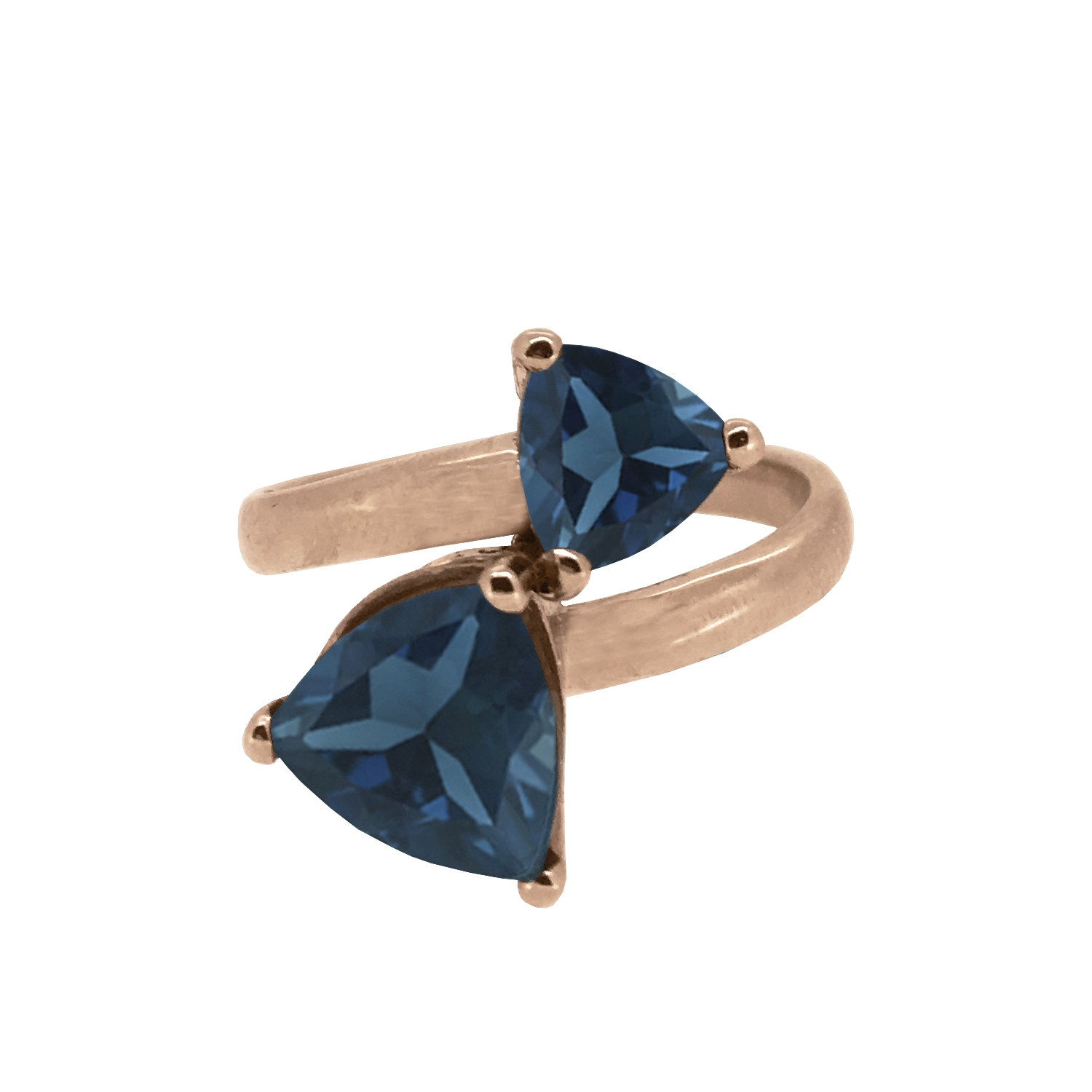 Twilight Collection Trilliant Cut Teal Topaz Ring 9ct Rose Gold copy.jpg