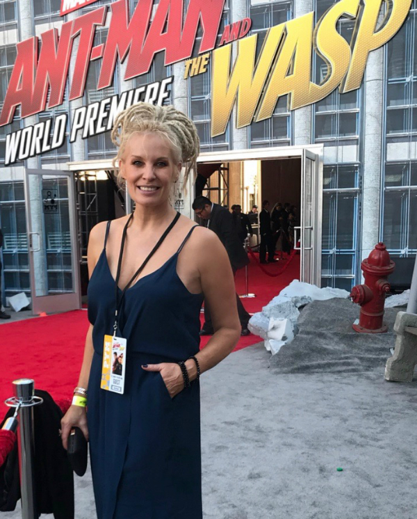 LA Premiere of Antman & the Wasp - Hil Cook - Hair & Make-up stylist to Actress Evangeline Lilly (The Wasp, Lost, The Hobbit) chose to wear TORY & KO. jewellery to the World Premiere of the new MARVEL movie Antman & the Wasp.