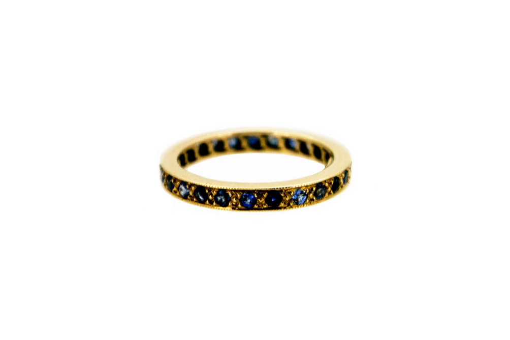 Sapphire and Gold Eternity Ring
