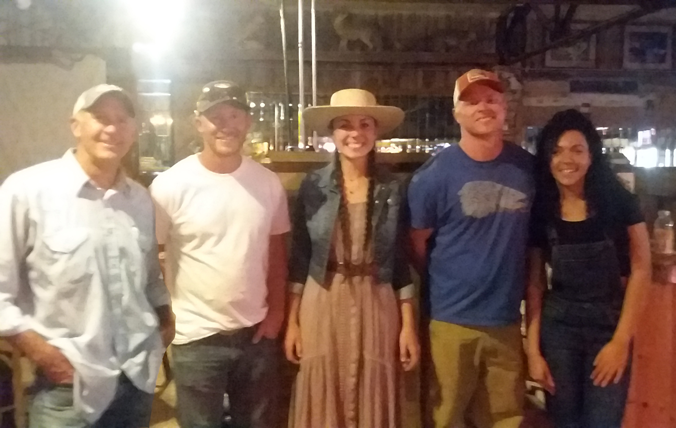 Pictured left to right, Jim Culver, Jordan Smith, Lacy Nelson, Rob Weimann, and Aspen Jacquet, top placers from the first year.
