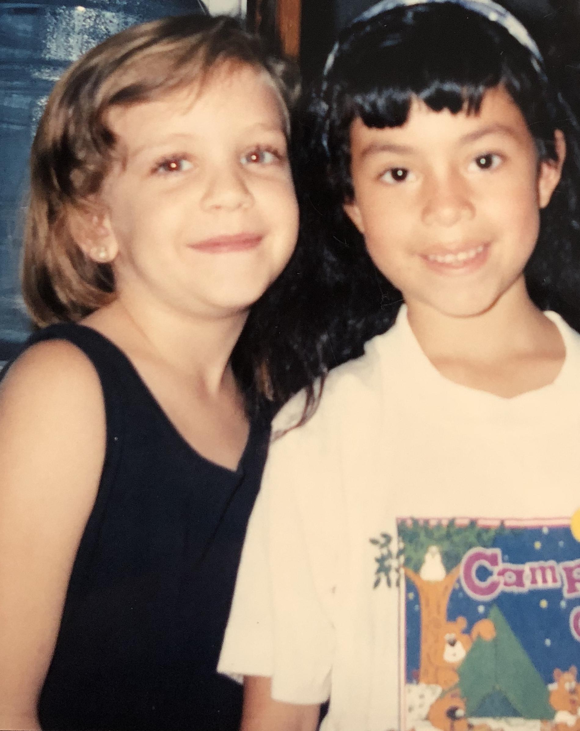 Us as little besties in the early 90's.