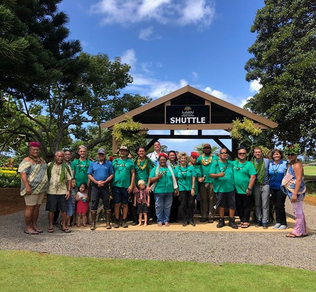 We are honored to participate in the shuttle stop blessing this am at Princeville Makai Golf Club. Incredible group of people committed to improving life for everyone. @princevillemakaievents @burnsy825