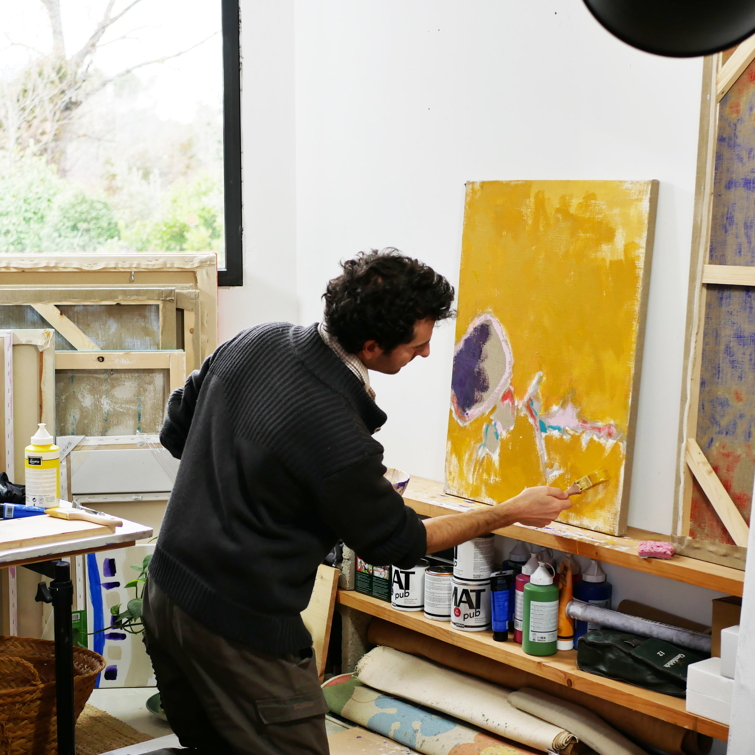 LUDOLIPON - Ludovic Philippon is from Rochefort sur Mer, town of Maurice Merleau Ponty and Pierre Loti. After studying architecture and philosophy in Montpellier, he now devotes time to his painting in his studio located north of Montpellier, France.
