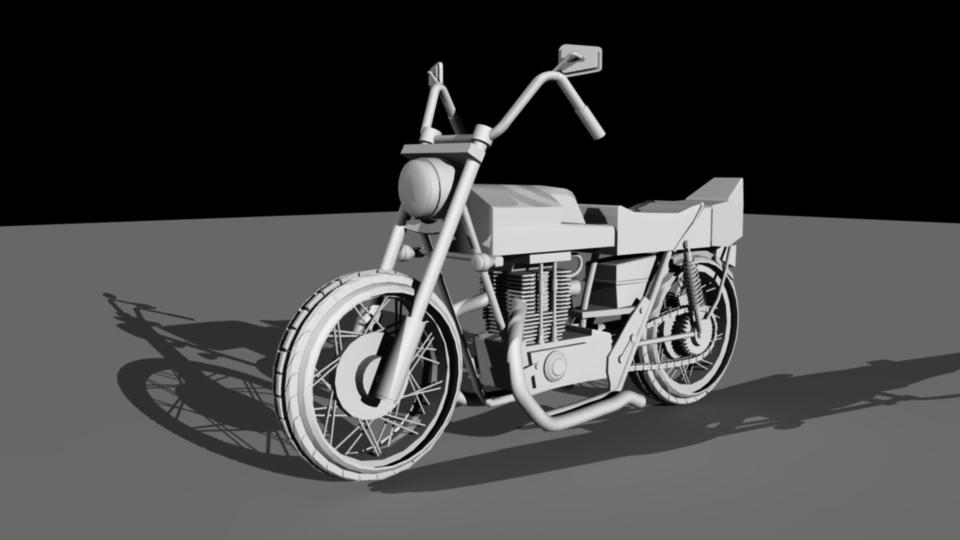 3D Motorcycle - Made on Maya