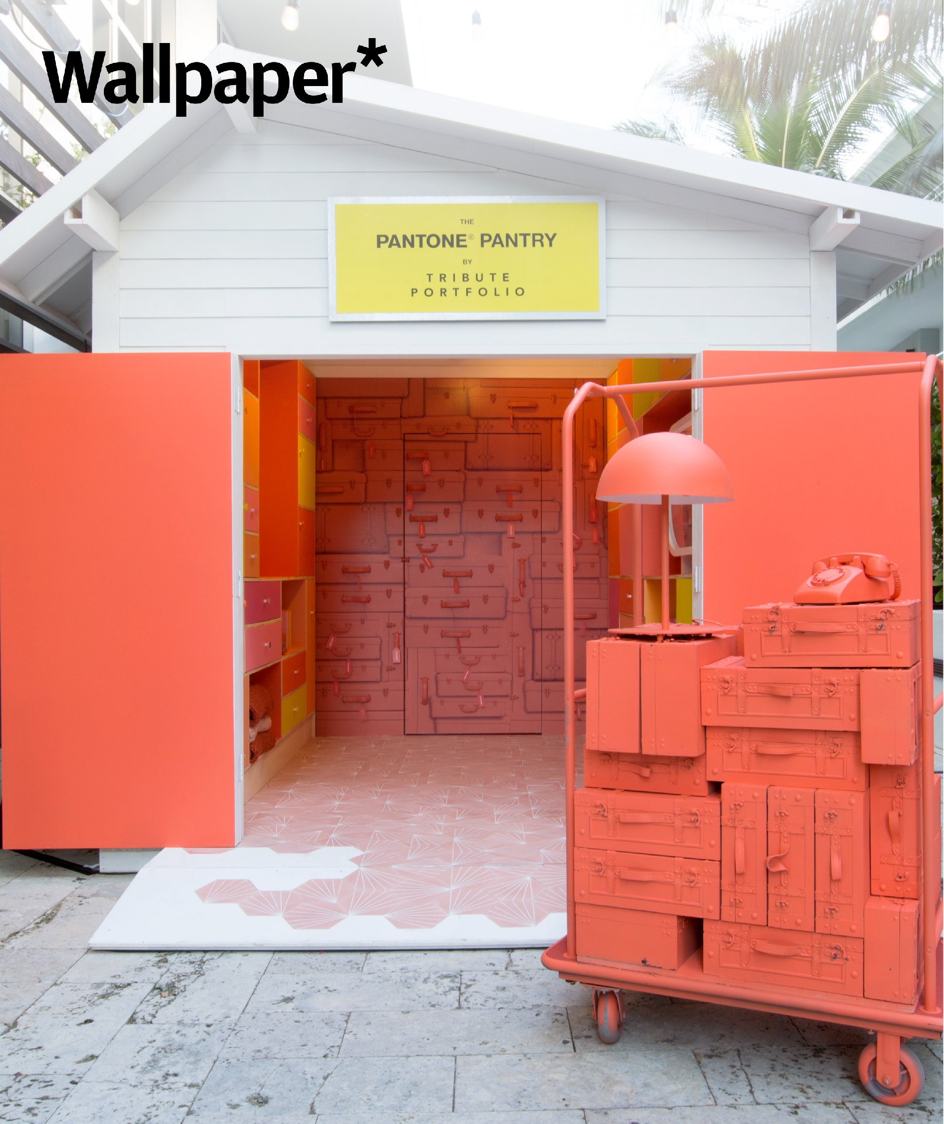Multi-Sensory Brand Experiences - BMF x Tribute Portfolio x Pantone's color of the year pop-up pantry installation was featured in Wallpaper.