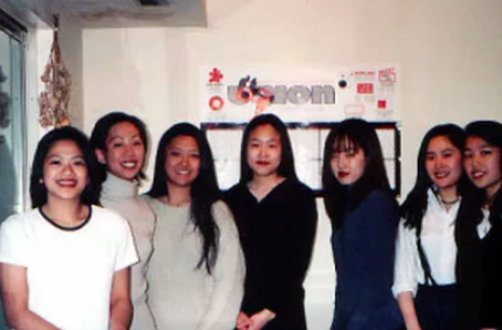 From left to right; Samantha Somchanhmavong, Elizabeth Choi, Rei Hirasawa, Chae Yoo Park, Connie Yang, Karen Eng, Hee Cho Moon
