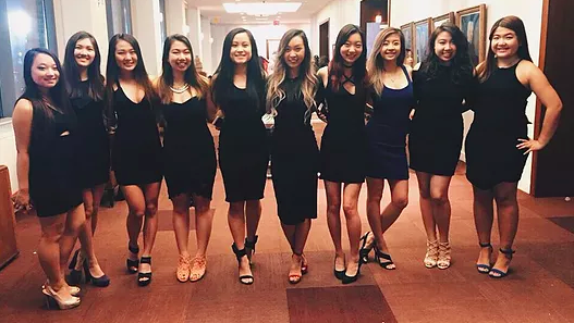 From left to right; Youran Lee, Monica Pan, Annie Jiang, Crystal Wong, Erica Lei, Alice Li, Jessica Yang, Madeline Huang, Jenny Liu, Shirley Suen