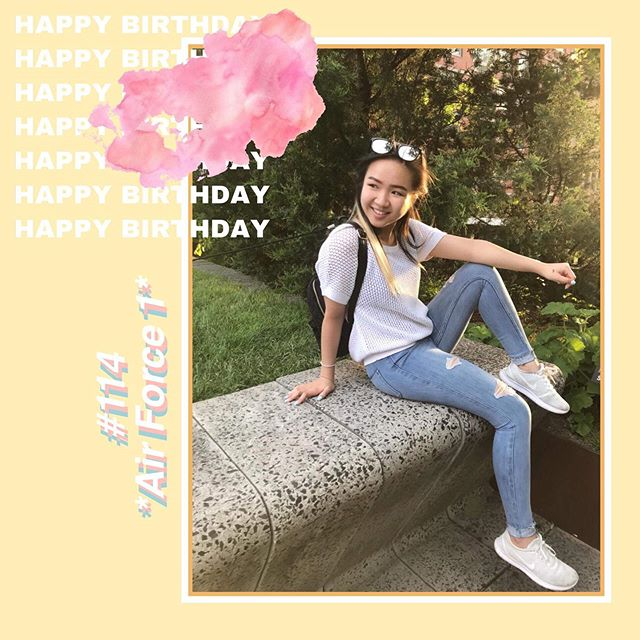 Wishing the happiest of birthdays to this Alpha Gamma cutie 🎉 #114 Anna Mei *Air Force 1* 🥰❣️😚 We hope you're enjoying your summer and having the best day!!💞🥳