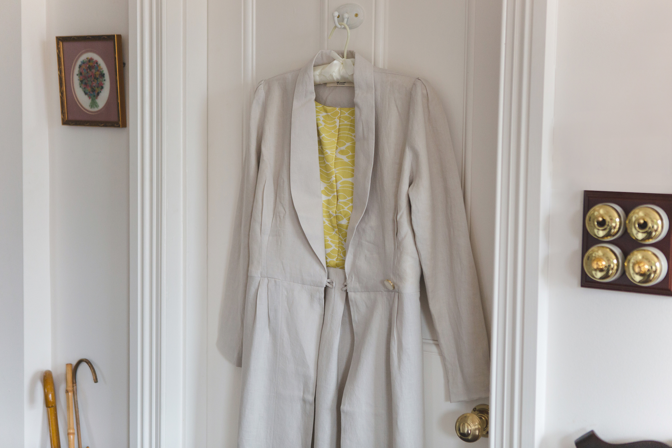La Robe de chambre regency day coat linen dressing gown silt buff.jpg