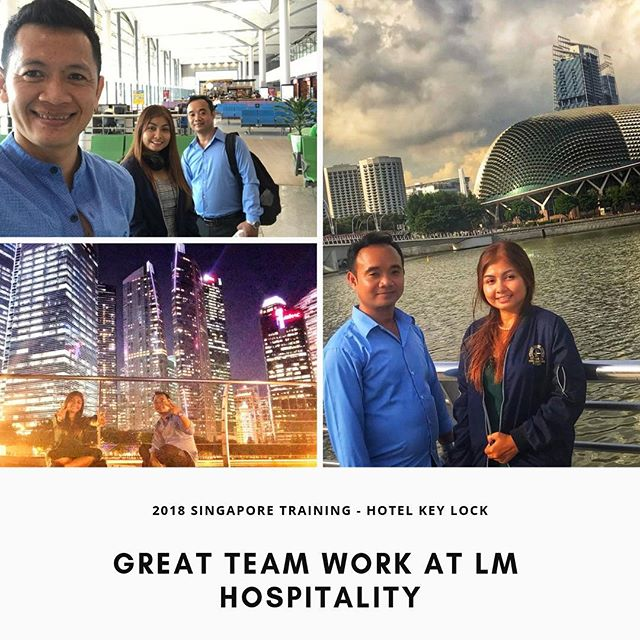 Our recent 2018 training in Singapore. Hotel key lock engineer Mr. Vet and our Sales Manager Ms. Rachana @rachana_lm_moon_ah_star