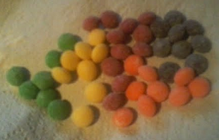 sour skittles ARRANGED by color