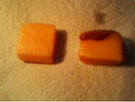non-melted and melted starburst COMPARED