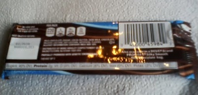 back of dove Milk chocolate package