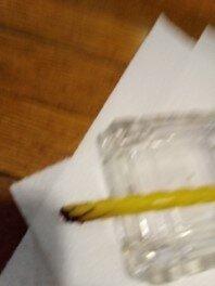 Yellow Twizzler Straw burned