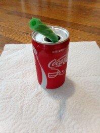 Watermelon Twizzler Straw in soda
