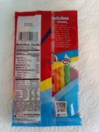 Twizzlers Straws Rainbow back of package