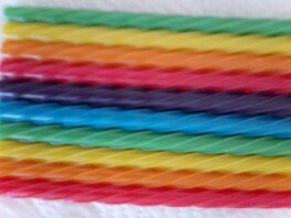 Twizzlers Straws Rainbow up close