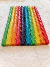 Twizzlers Straws Rainbow stuck together