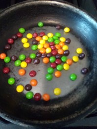 Skittles Before Cooking