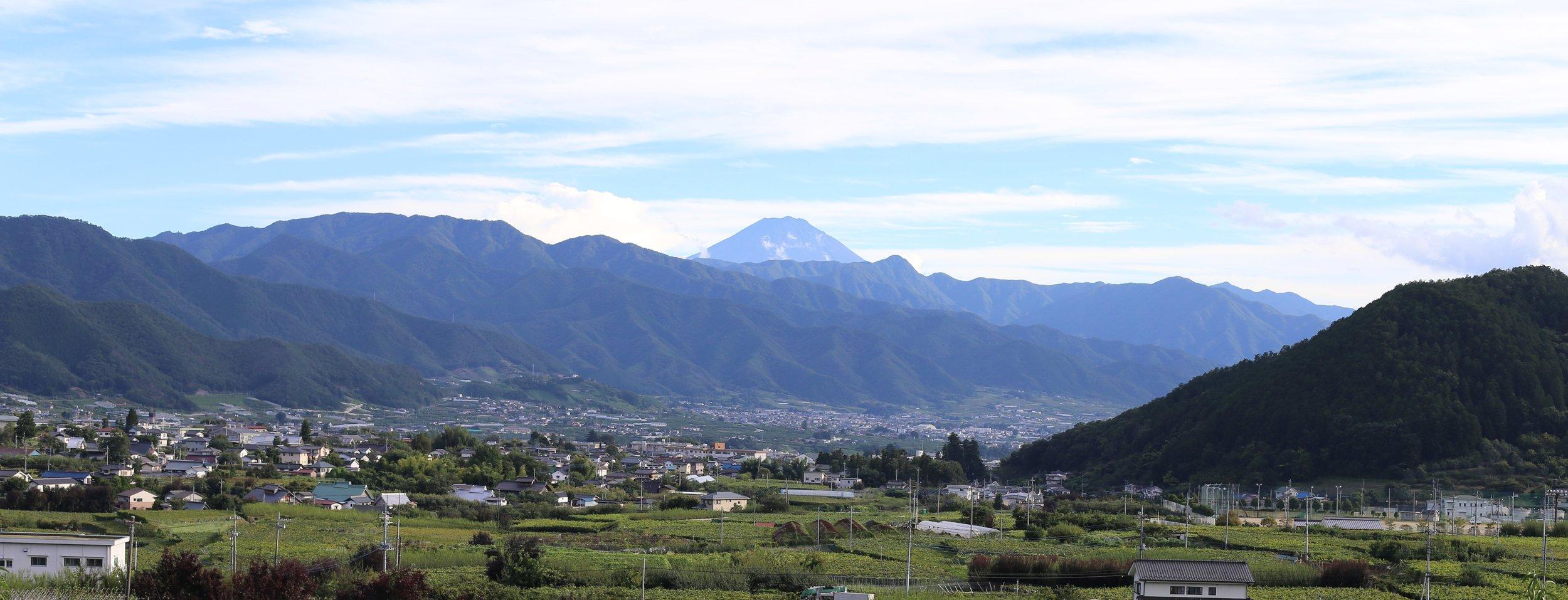 The Koshu Valley, looking south towards Mt. Fuji.