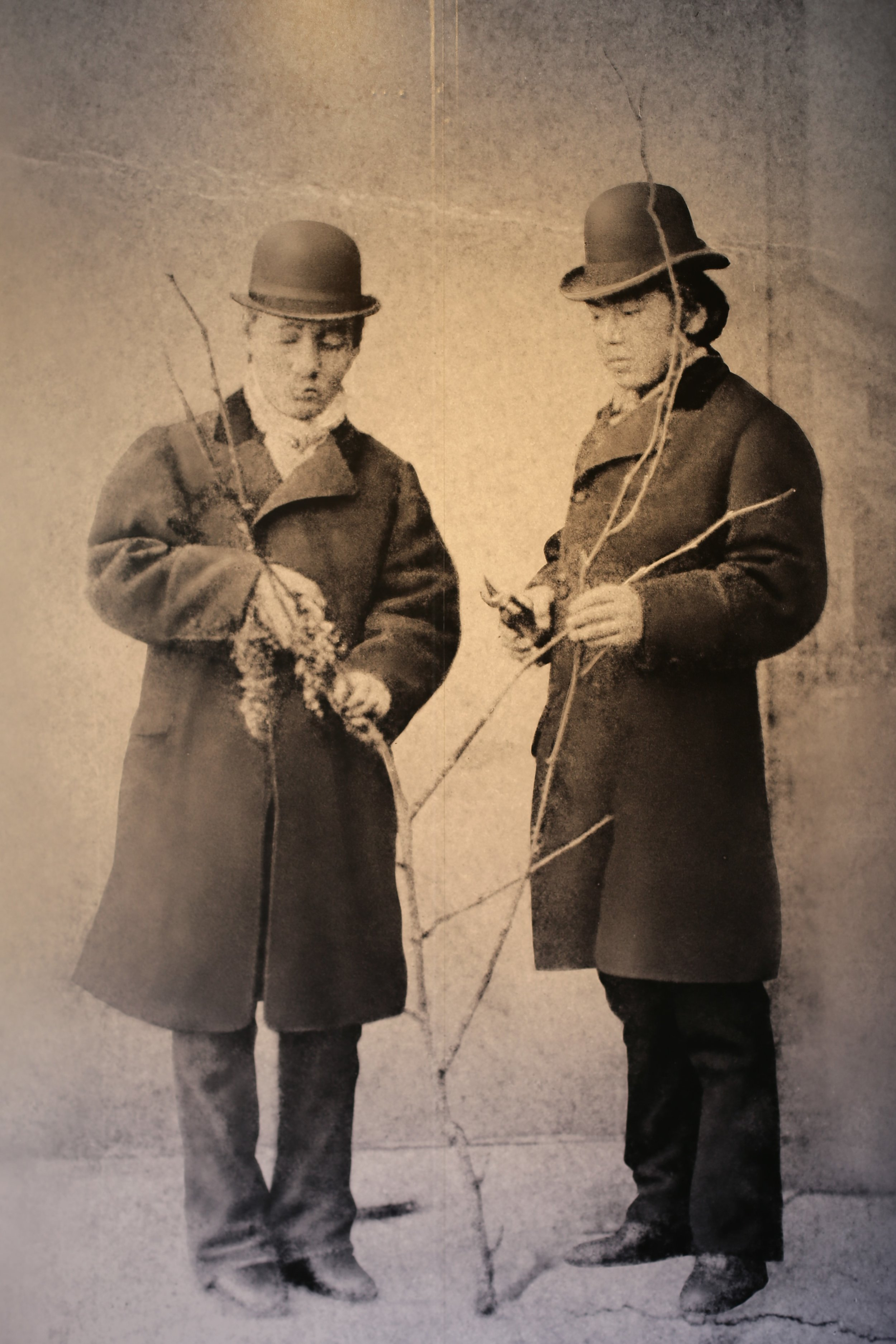 Masanari Takano (L) and Ryuken Tsuchiya (R), pictured in Champagne, France, where they studied winemaking and grape cultivation from October 1877 to March 1879.