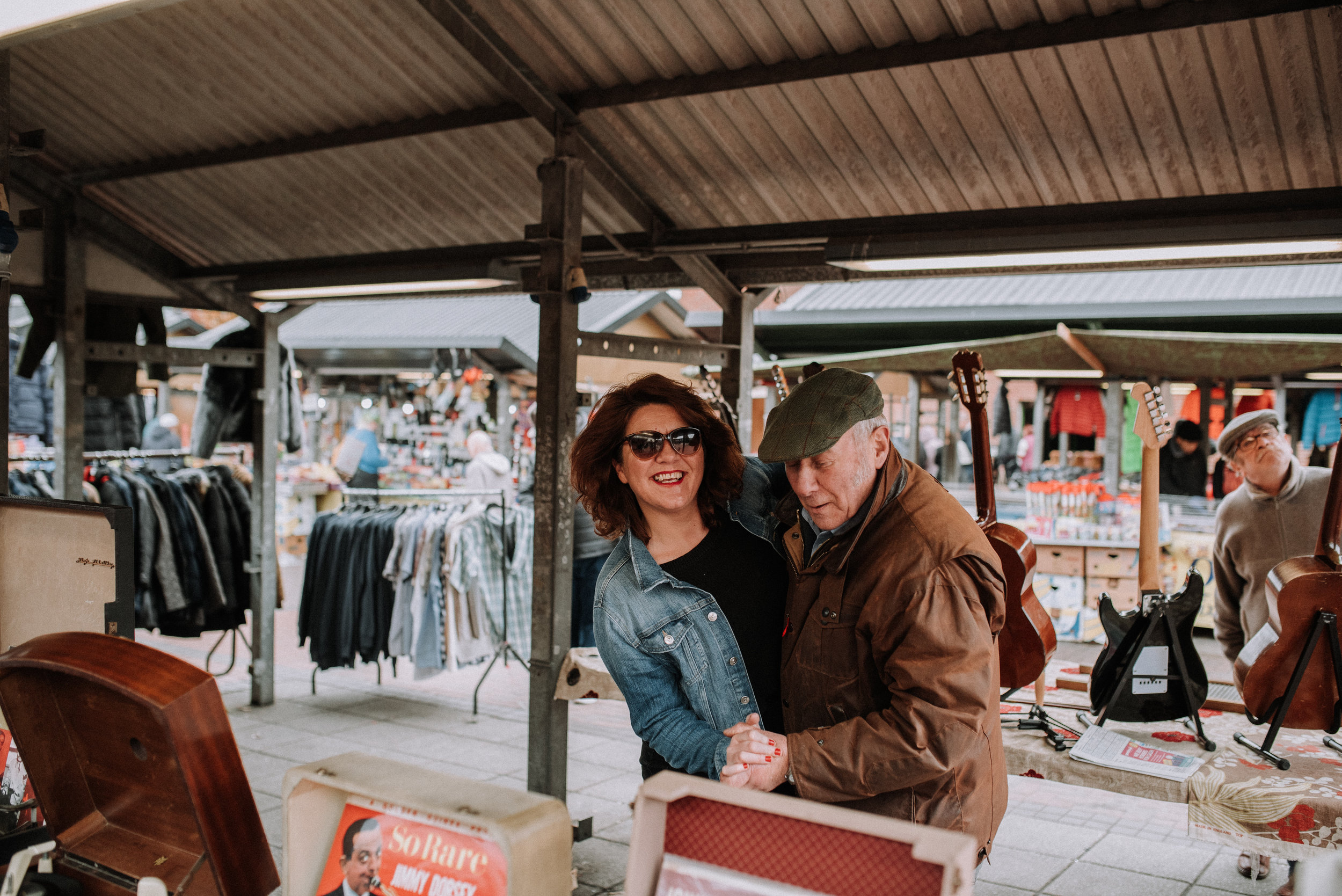 Me and Andy jiving at Leeds Markets