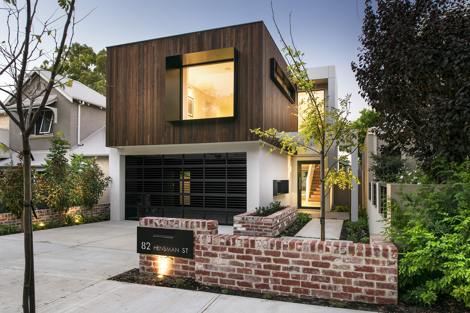 Looks modern  - but homes like this are really no different than brick homes from 100 years ago.