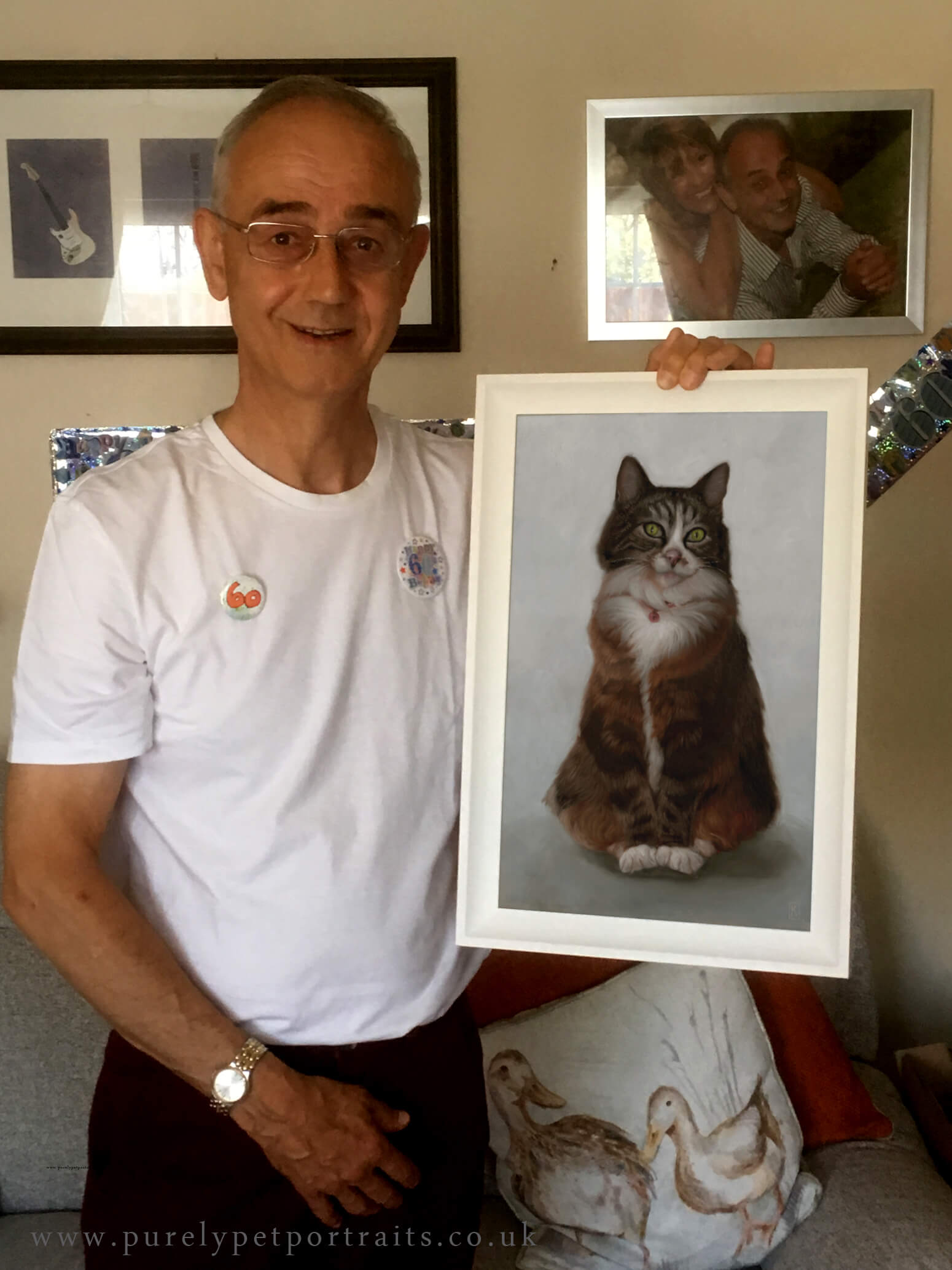 """Portrait of Misty - """"Hi KateMy husband Gary loved portrait of Misty, as expected we all got very emotional. Gary said you have captured her totally and it was almost like she was here for his birthday.Thank you so much Kate, you have been so lovely and very professional. You are a brilliant artist.""""Annette"""