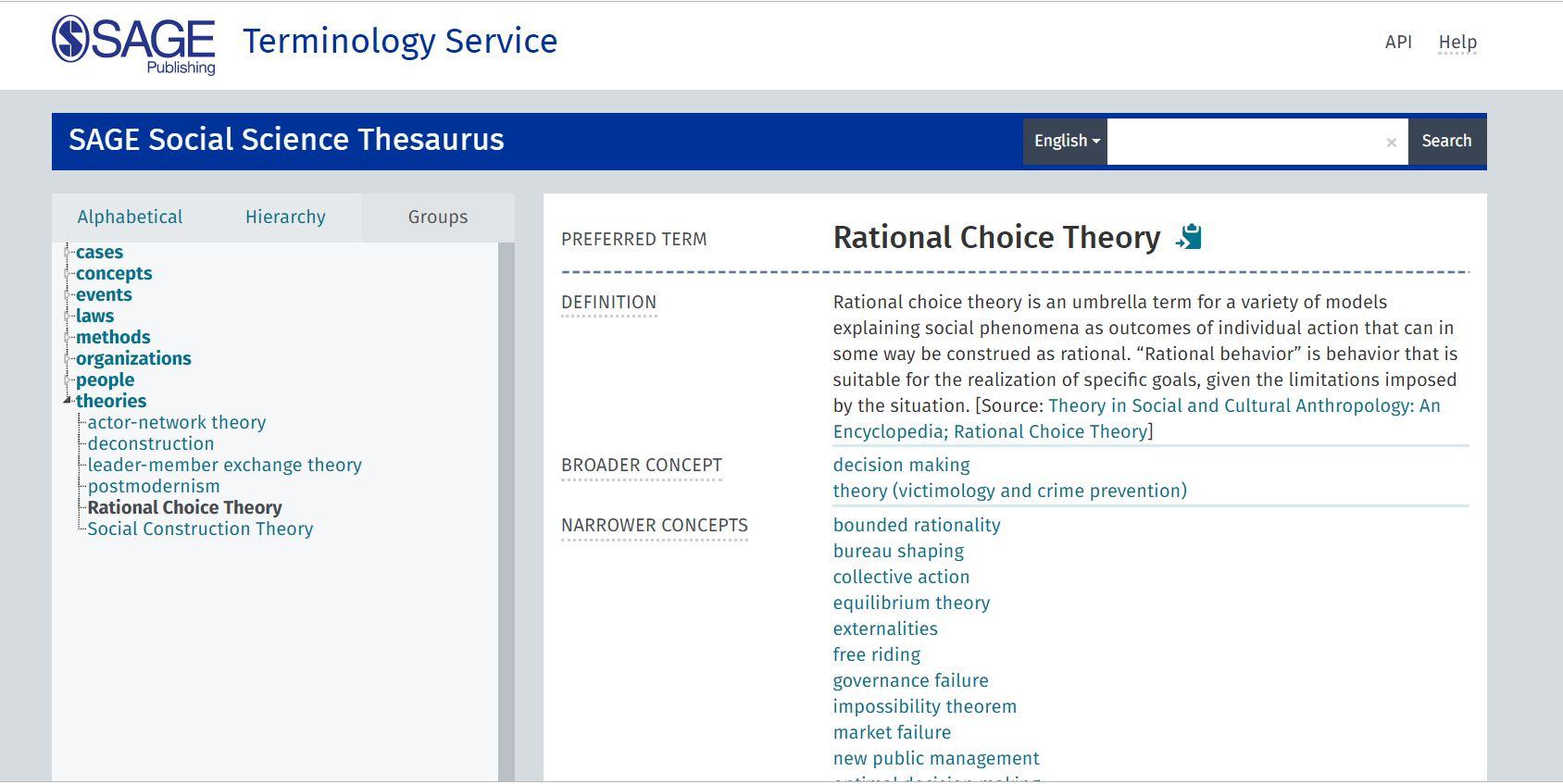 SAGE Terminology Service