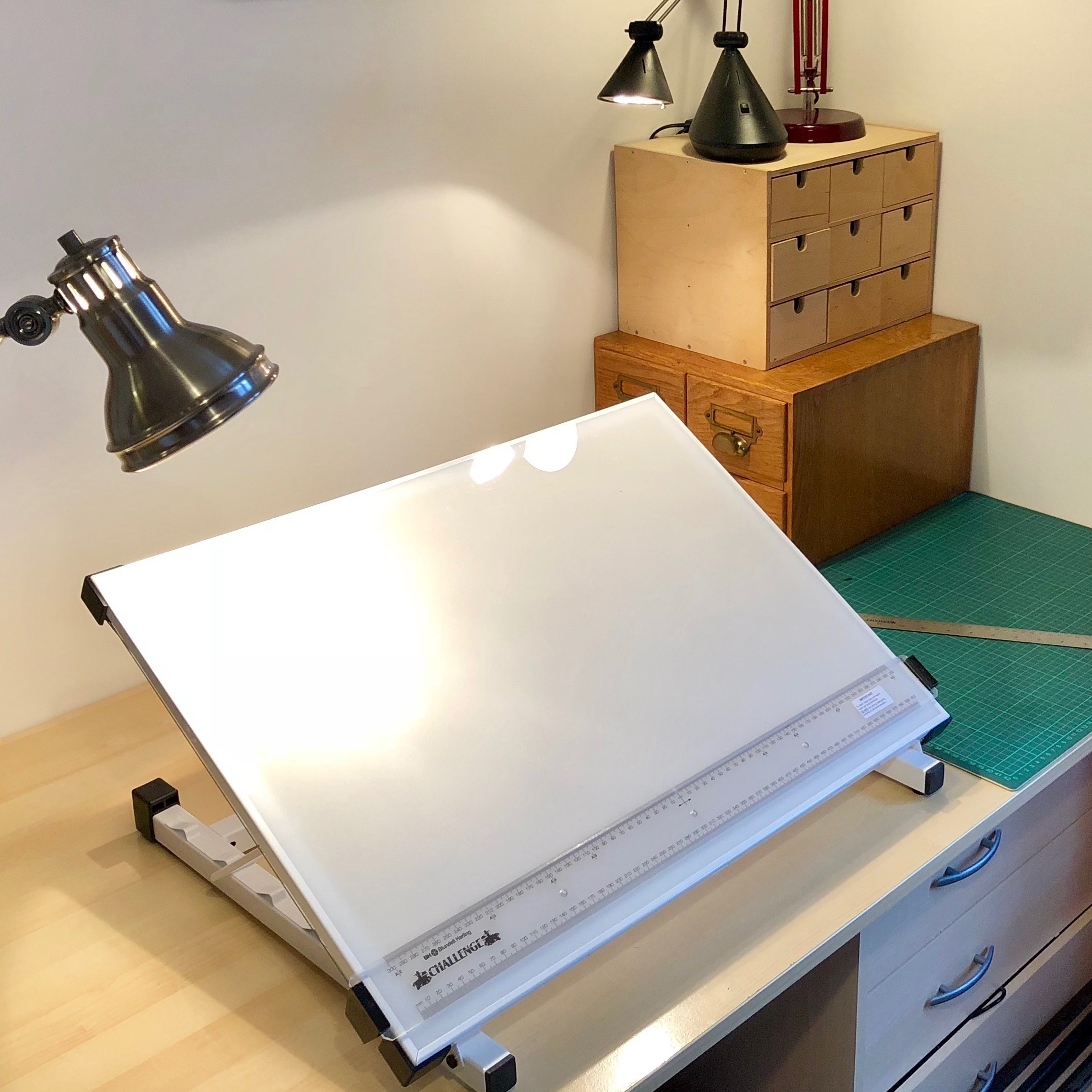 My mapping desk with backlight drawing board