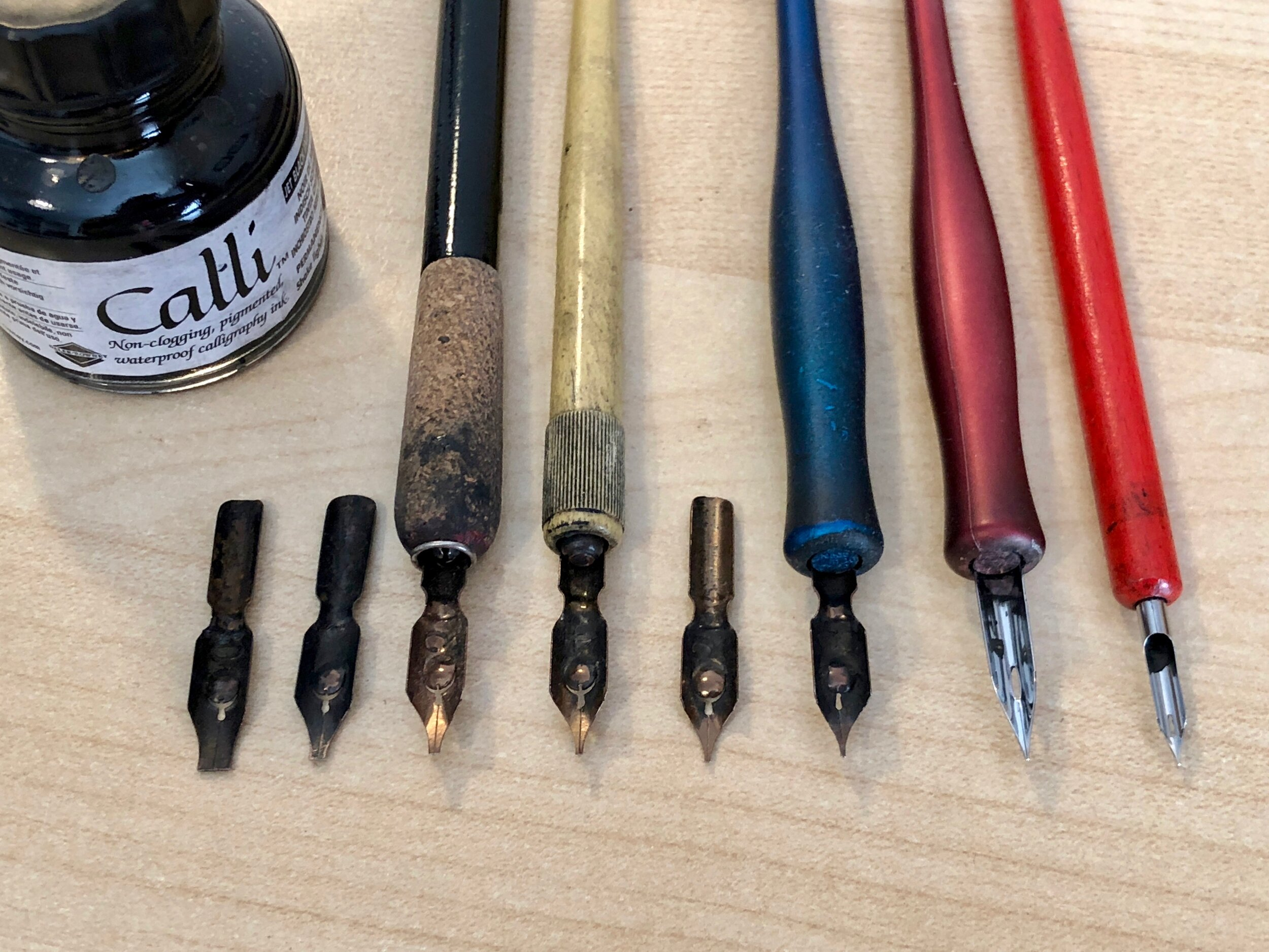 Nibs for calligraphy