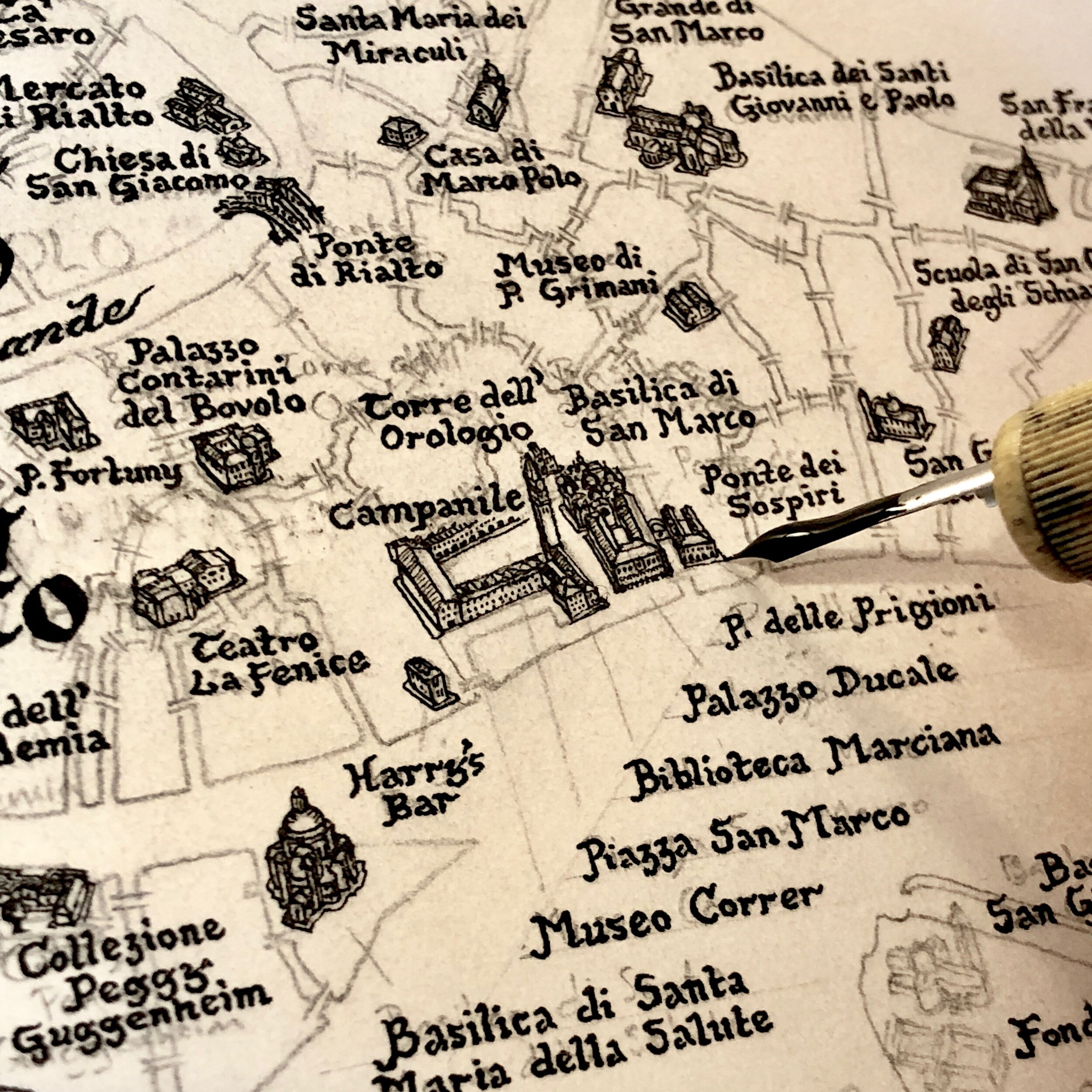 The  Venice Map  - toponyms, then buildings