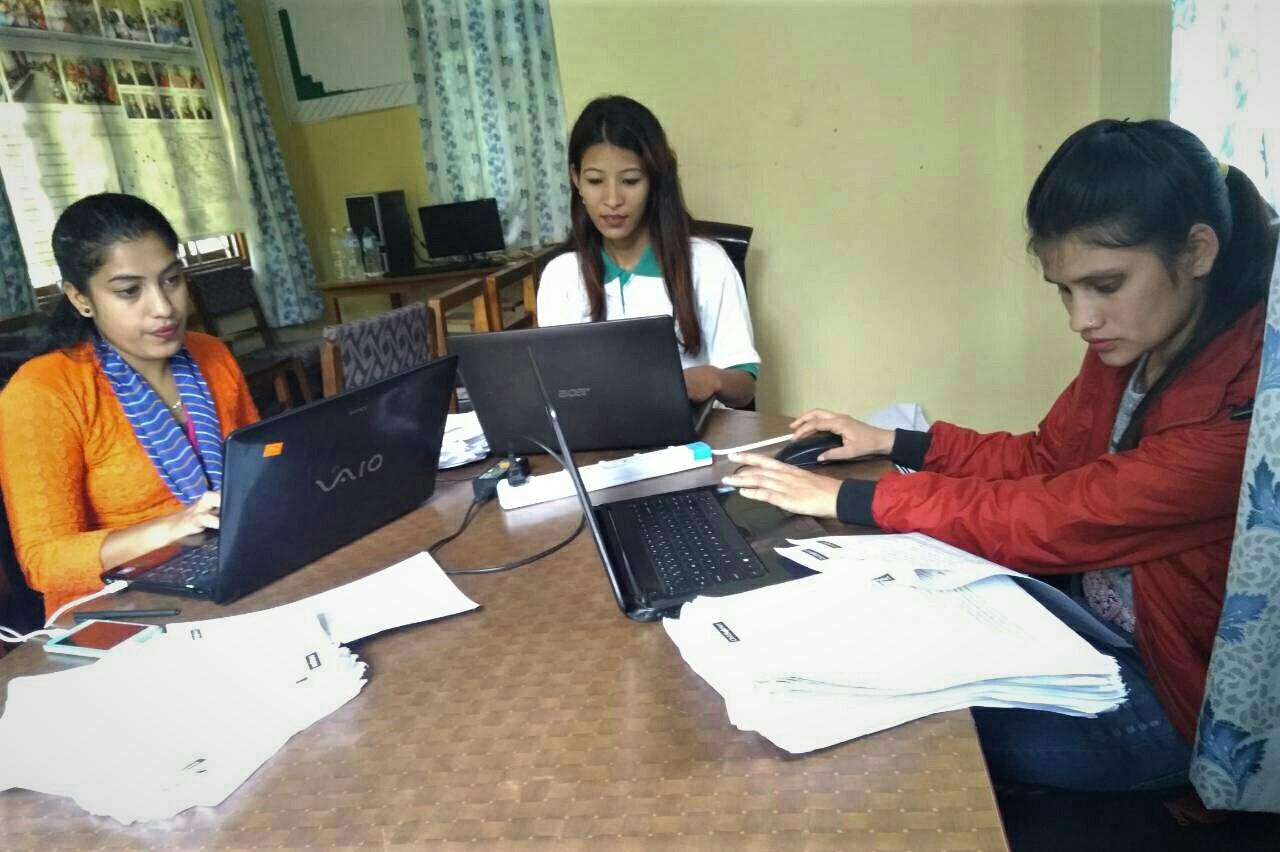 - Survey data entry by an all female team at Love Green Nepal, Panchkhal, Kabhrepalanchok