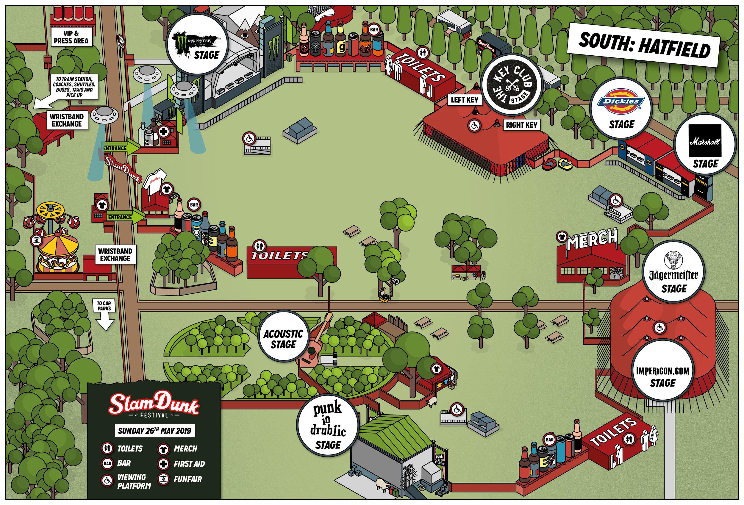 Slam Dunk Festival South 2019 Map