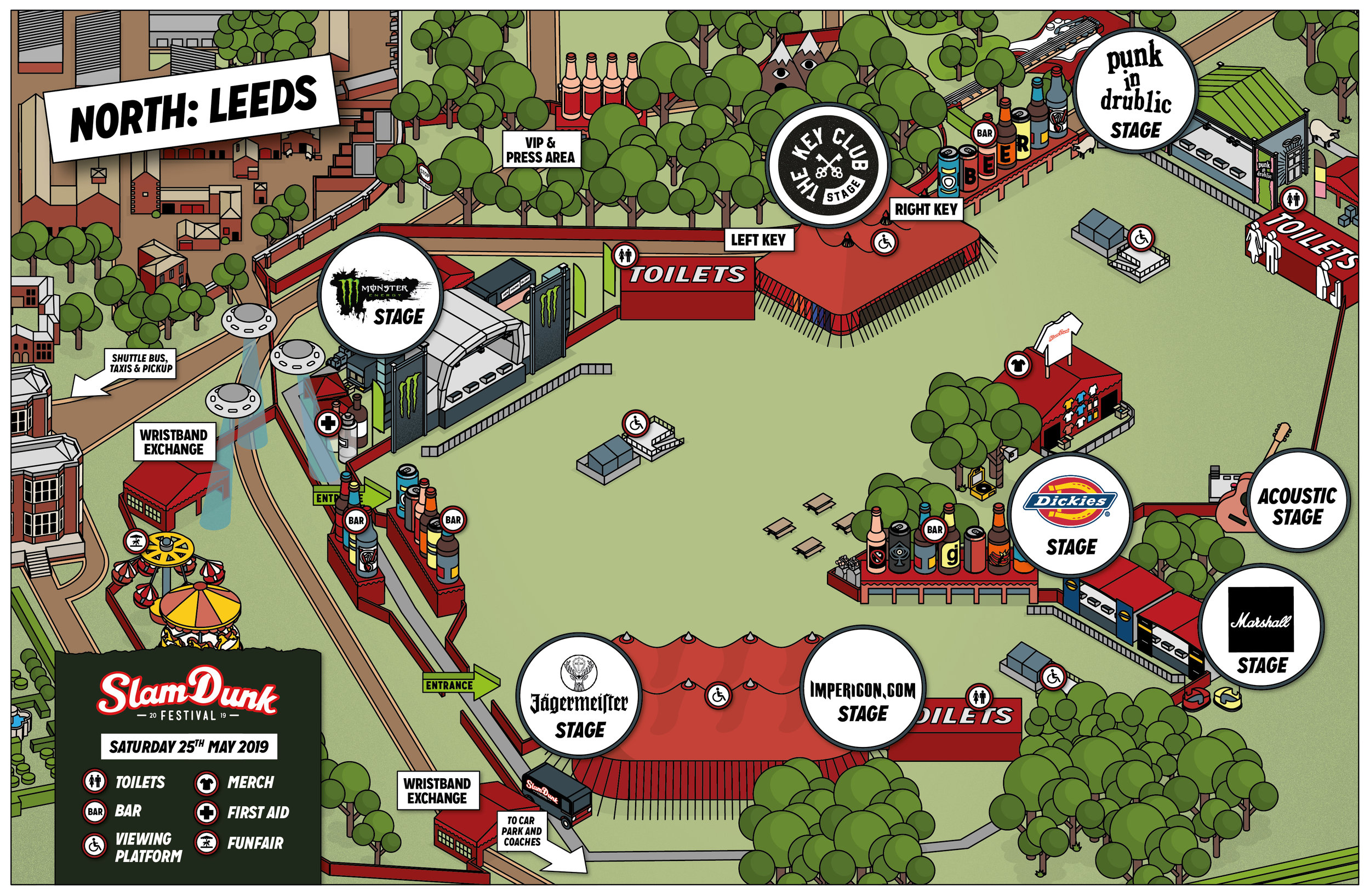 Slam Dunk Festival North Site Map
