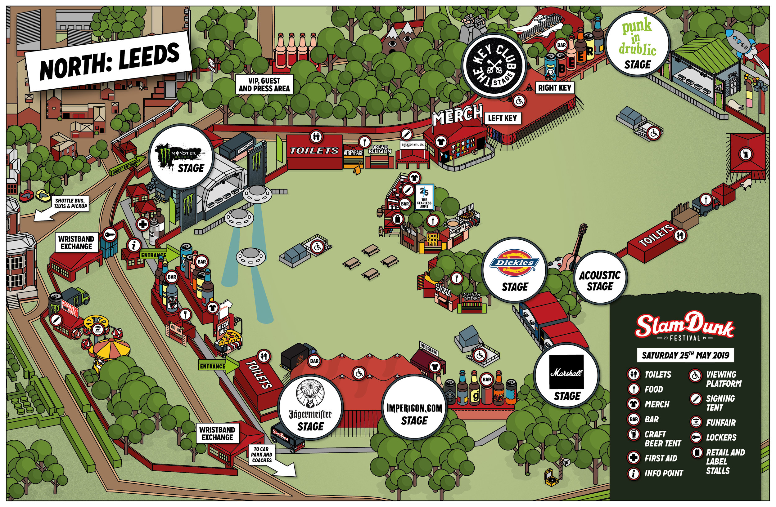 Slam Dunk North Site Map (Subject to Change)