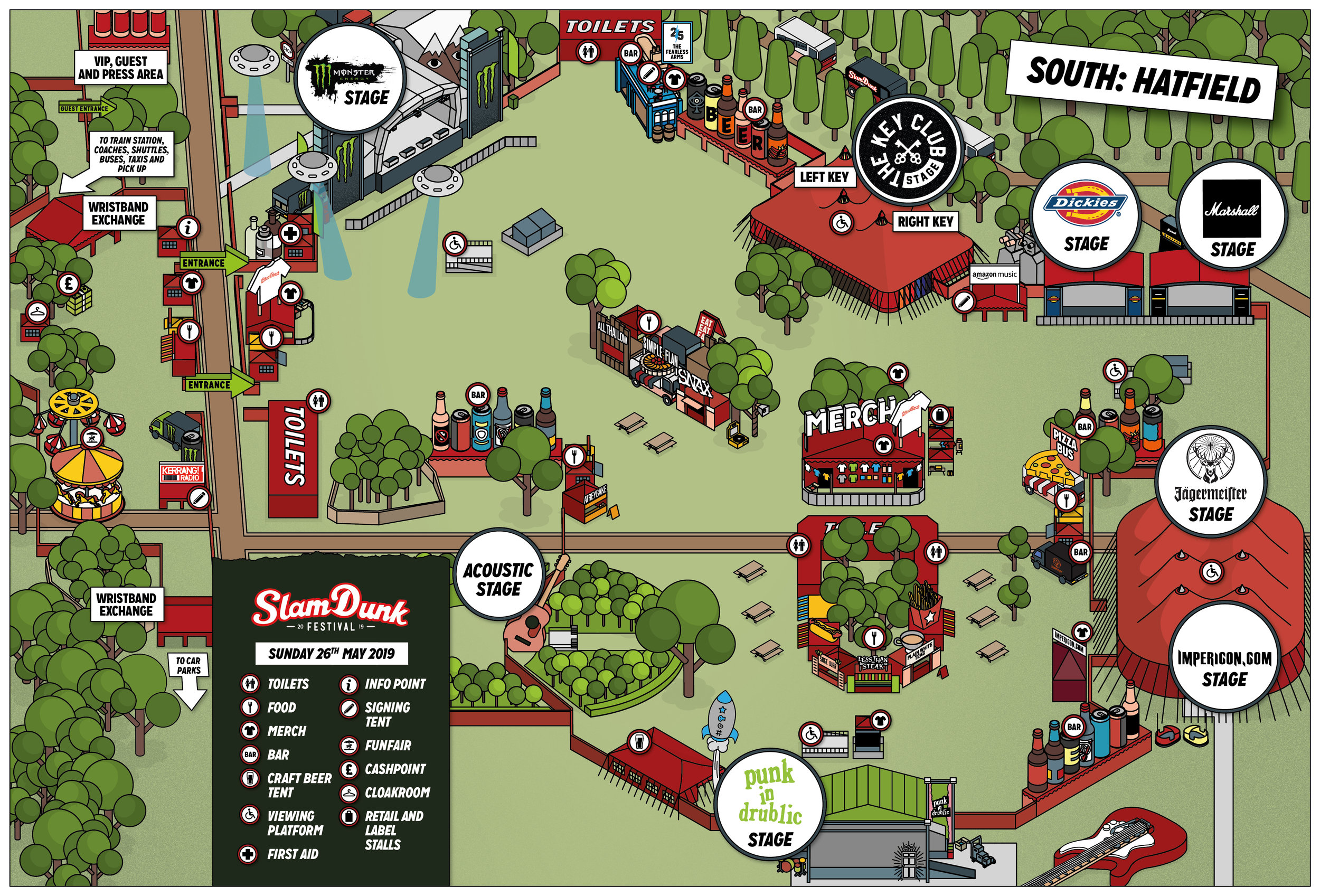 Slam Dunk South Map (Subject to Change)