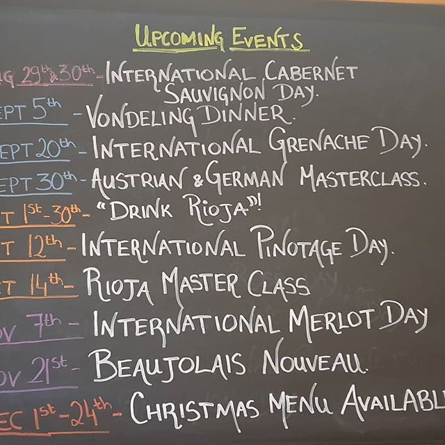 Lots to look forward to in the next four months! If you are not already on our mailing list, please send us your email address so we can keep you updated with the details of all of these events and more. #drinkriojawines #winedowniom #foodandwine #fincaamalia #bodegasondarre #senoriodearana #stein-wein #pfaffl #kaapzichtwineestate #foodandwinepairing #vondelingwines