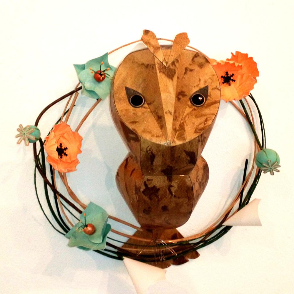 long eared owl poppy wreath1.jpeg