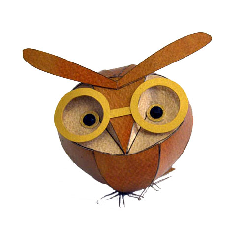 Freestanding owlets can be plain, or with dapper embellishments.  Barn Owl size: 8 x 8 x 8 cm.  Hoot Owl size: 8 x 8 x 12 cm.  Long Eared Owl size: 10 x 8 x 8 cm.  Plain freestanding owlet £35  Dapper freestanding owlet £38