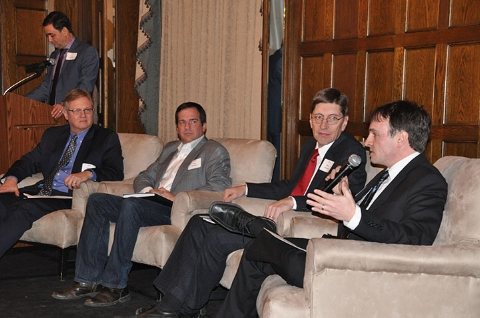 NEP's Senior Direction of Operations, Tom Roberts (second from left), joins other panelists in a discussion on clean energy and driving innovation in Ohio.