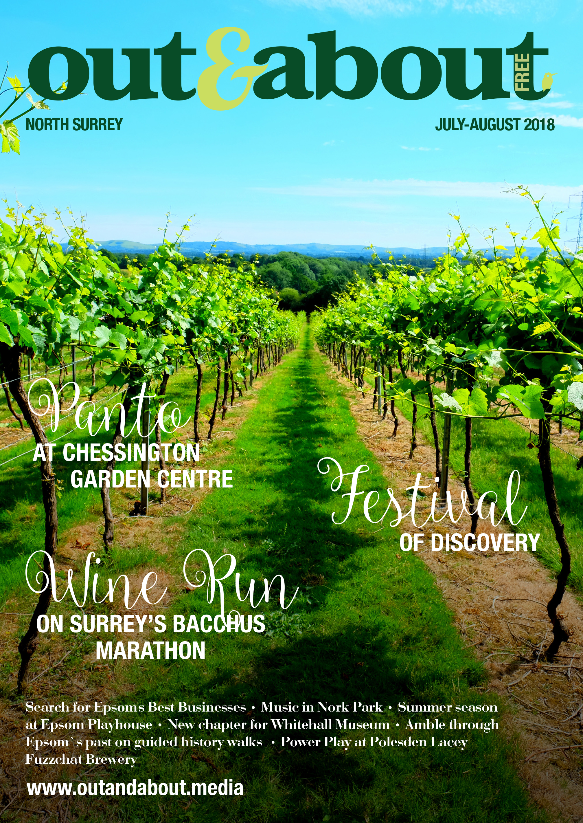 North Surrey - There's so much going on in North Surrey this July and August, with the Festival of Discovery, the Wine run and the panto at Chessington Garden Center. Read all about it!Click here to read previous editions