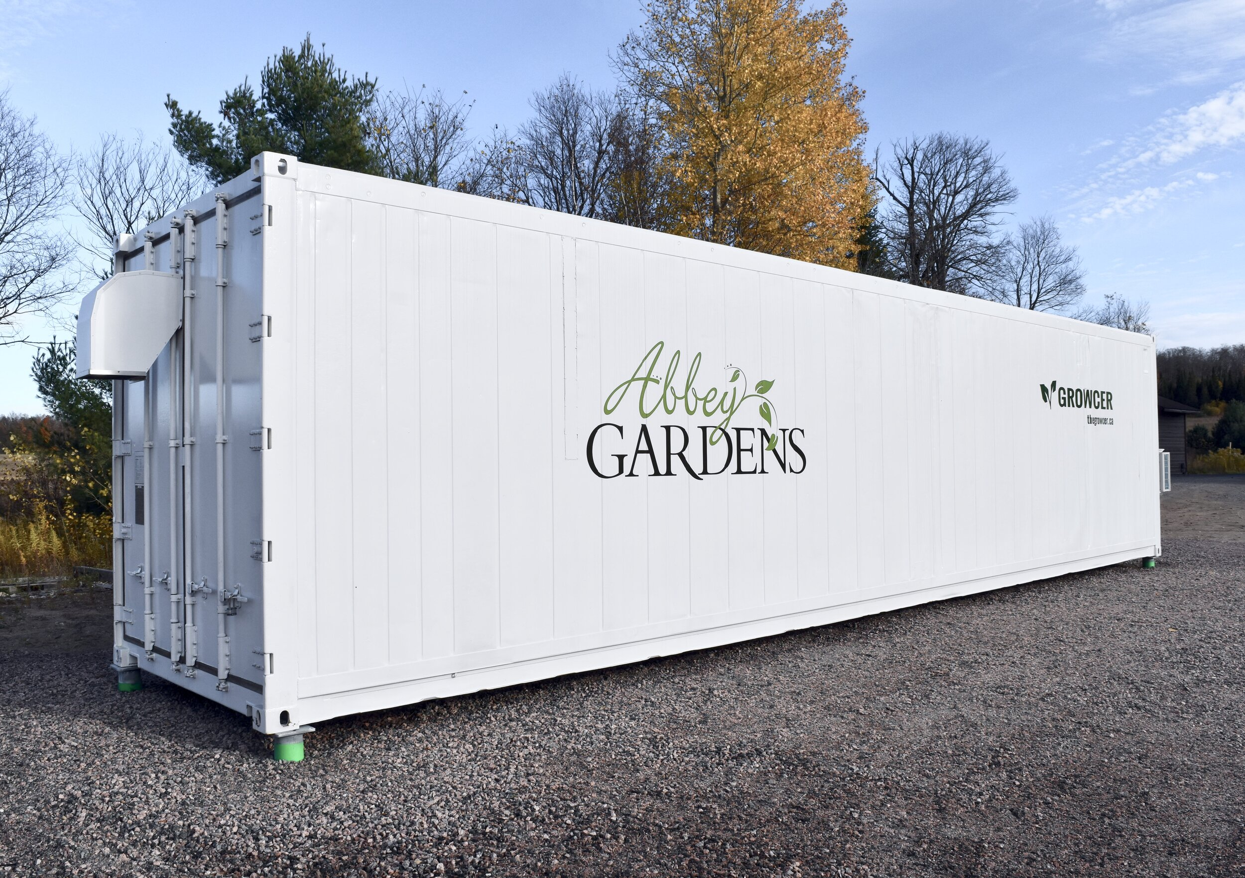 The Growcer system will allow Abbey Gardens to extend its growing season to be all year-round.  Photo credit: Morgan Hector.