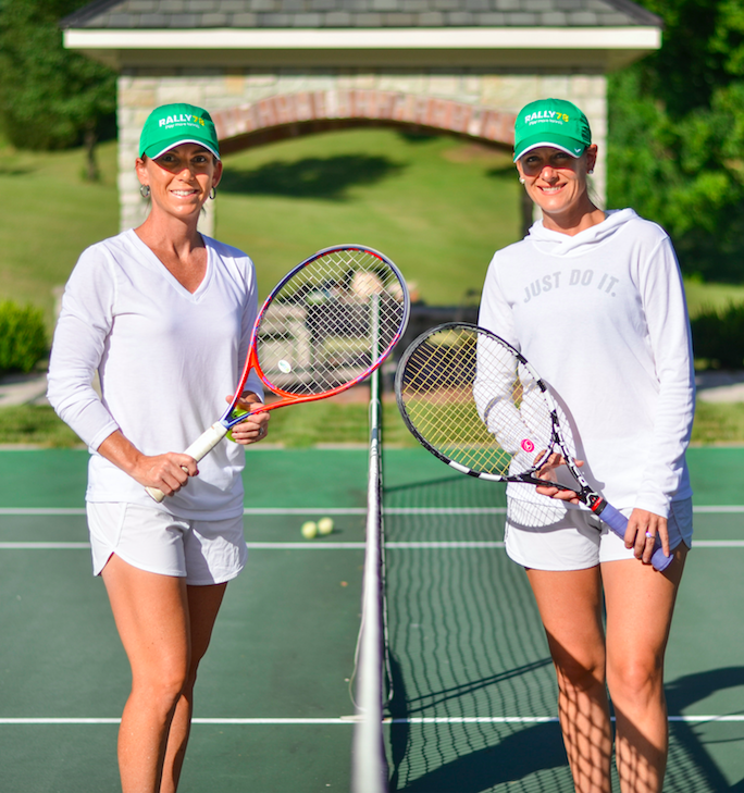 Meet Ellen & Jan - Ellen grew up with a racquet in hand. Her parents would push her stroller out to the courts where she would watch for hours. She learned to play in her home state of Missouri, where she played college tennis. Ellen is still an avid USTA player. A seasoned sales and marketing professional, Ellen has a passion for working in the fast-paced world of tech start-ups.Jan's first mastery was figure skating and ice hockey, seeing as she's from London, Ontario. But once tennis took over, Jan quickly became an elite, nationally ranked All-American player at Clemson. Jan is a decorated tennis teaching professional and has taught and managed clubs from Atlanta to Louisville. Most recently Jan was awarded 2017 Kentucky Tennis Professional of the Year.