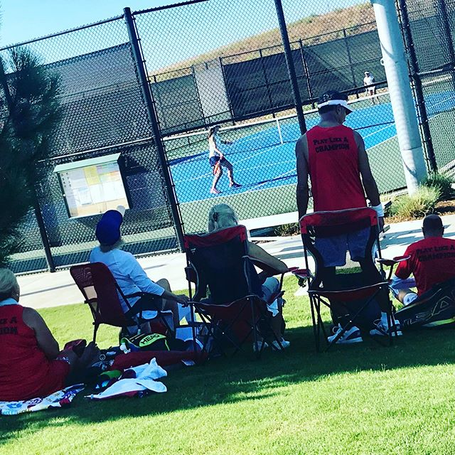 Play Like A Champion cheered hard AND found shade in sunny Irvine this weekend at the final WTT National Qualifier! 🎾🎾🎉🎉☀️☀️#wtt #tennis #playmoretennis #rally78 #staycool
