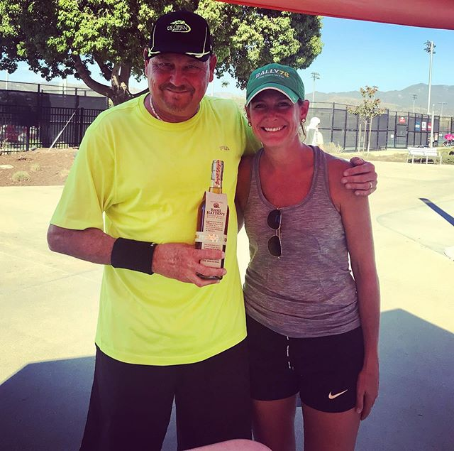 Congrats to Jeff Richards for bringing home the bourbon @worldteamtennis qualifier in Irvine! Congrats and thanks for spreading the Rally78 word!!! 🎉🙌🎾🥃😁 #wtt #rally78 #tennis #basilhayden