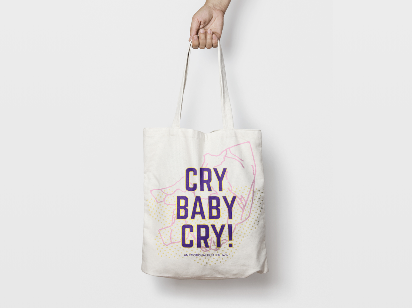 Cry Baby Cry Canvas Bag